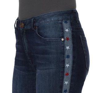 Cheryl Crow Star Tuxedo Stripe Skinny Jeans